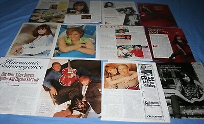 HUGE LOT of 12+ SUZY BOGGUSS Magazine Article Photo Clippings ~ Chet Atkins