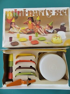 Tupperware Children's Play Dishes Mini Party Set.