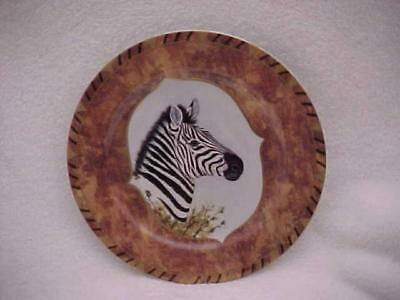 Lynn Chase African Portraits Plate with a Zebra -- MINT & Never Used