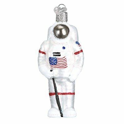 Old World Christmas Astronaut Glass Tree Ornament 24182 FREE BOX Space New