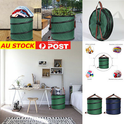 Foldable Garden Pop Up Leaf Trash Storage Bucket Bags Garden Can Container Tool
