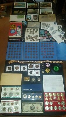 BIG coin lot collection MINT sets GP bar wheats SILVER STAMP $2 +NO JUNK DRAWER