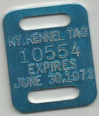 1973 Ky Kennel Tag