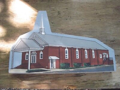 "1998 FIRST BAPTIST CHURCH of Seaford, Delaware Wooden Replica, 8 1/4""x5 1/4""Tall"