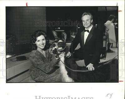 1983 Press Photo Darlene and Charles Staffs at Zoological Society Party, Houston