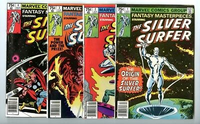 Fantasy Masterpieces Silver Surfer #1,2,3,4 Avg NM- New Marvel Collection