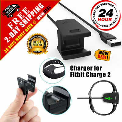 Charger For Fitbit CHARGE 2 Activity Wristband USB Charging Cable Cord Wire-2018