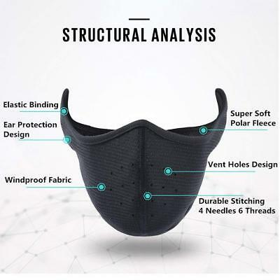 Winter Fleece Ear Warmers Earmuffs Cycling Ski Half Face Mask For Men Women USA