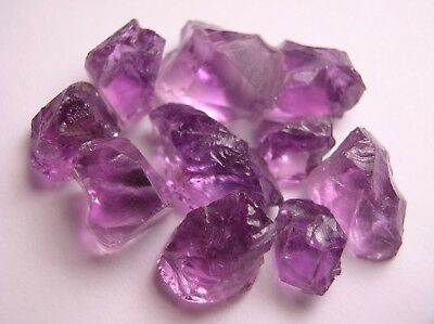 Amethyst, Light To Medium Purple Facet Rough, Brazil