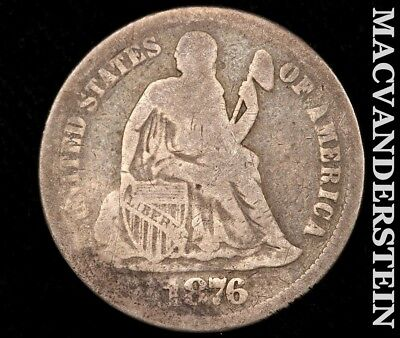 1876 Seated Liberty Dime-Scarce Better Date!! #a1523
