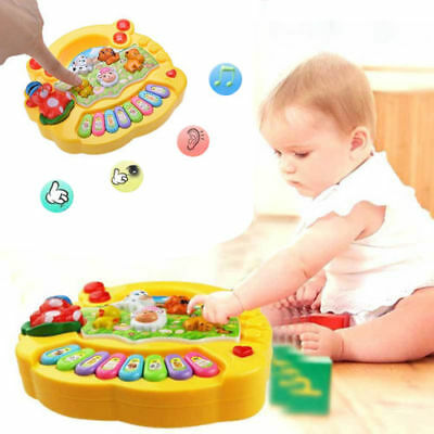 Farm Piano Musical Educational Developmental Music Toys for Kids Baby 1-4 Years