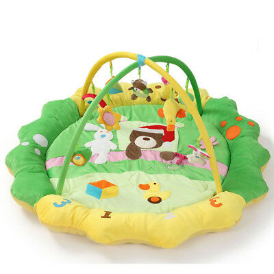 A39 Green Baby Fitness Bodybuilding Frame Velvet Cotton Play Mat Activity Gym A