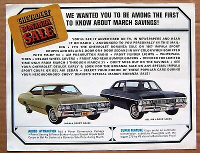 Ad Page ~ 1967 Chevrolet ~ Impala Bel Air Fleetside Pickup