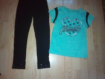 Disney Minnie Mouse & So 2 Piece Girls Outfit Size 7-8