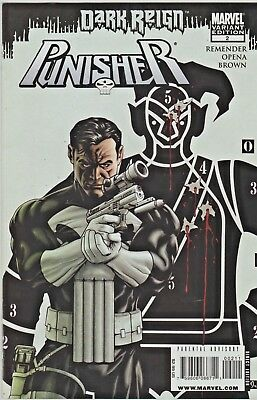 Punisher # 2  (Dark Reign)  Variant Edition  (2009)  9.2