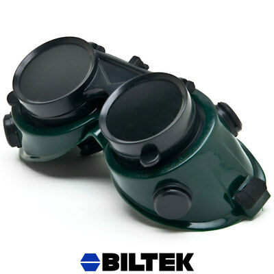 Welding Flip Up Goggles Style Glasses Steampunk Double Lens Dark Lenses Safety