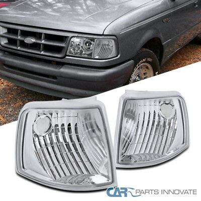 93-97 Ford Ranger Clear Corner Lamps Turning Signal Parking Lights Left+Right