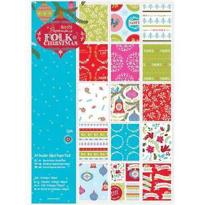 Papermania A4 Double-Sided Paper Pack 32/Pkg Folk Christmas, 16 D 499995160590