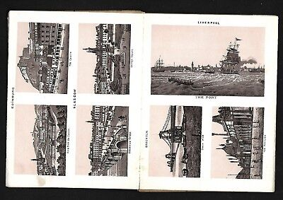 Antique Vintage Old Fold-Out Postcard Galleon Ships Boats Trains Bus Horse