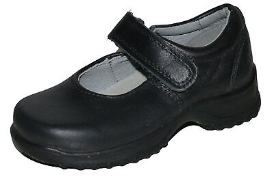 Ricosta Black Leather Little Girls Shoes UK 7.5 EU 25 NWOB