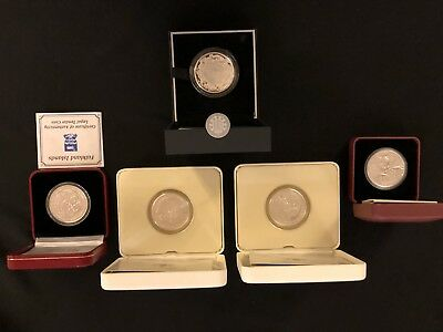 Mixed Lot Coins Canada Britain And Moose Silver Royal Engagement & Christening