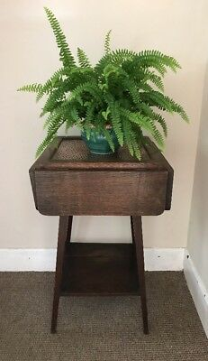 Antique Arts And Crafts Side / End Table Copper Top