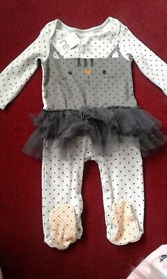 Baby Girls  Sleep Suit With Tu Tu, Age 12-18  Months, New With Tags ,mothercare