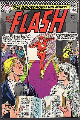 "The Flash # 165-1966-Barry Allen Weds Iris West In ""one Bridegroom Too Many!"""