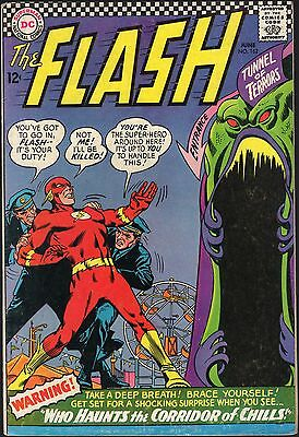 "The Flash # 162-1966-""who Haunts The Corridor Of Chills!"""
