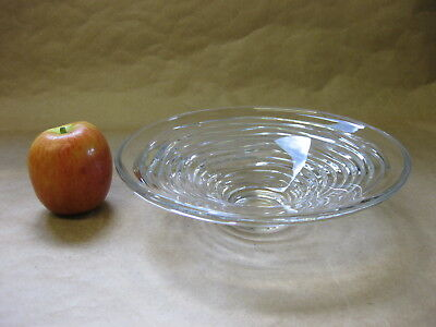 Jasper Conran Crystal Glass Bowl by Stuart Crystal ~ 'Strata' Pattern ~ 8""