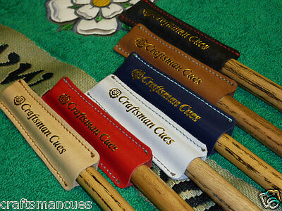 Leather Snooker cue / Pool cue tip protector