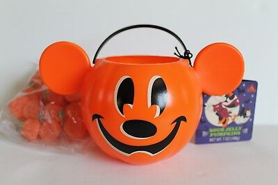 Disney Parks Halloween 2018 Vant Candy Pumpkin Mickey Sour Display Sm Bucket NEW