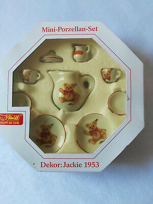 💛 STEIFF    Mini-Porzellan-Set   Dekor Jackie 1953    in Originalschachtel