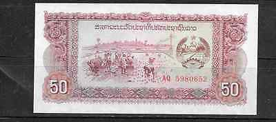 LAOS 29r REPLACEMENT 1979 UNCIRCULATED 50 KIP OLD BANKNOTE BILL NOTE PAPER MONEY