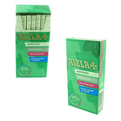 1 5 10 20 x 120 Rizla Ultra Slim Menthol Popatip Filter Tips Smoking Rolling