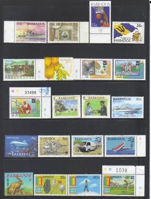 Barbados 1996-2000 Used Selection Cat £26+