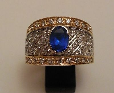 BAGUE VOLUMINEUSE BICOLORE OR 18 CARATS  (ref2200)