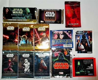 Star Wars Fantastic Collection of Cards & Stickers  - 13 Different Sealed Packs
