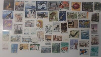50 Different Aland Stamp Collection