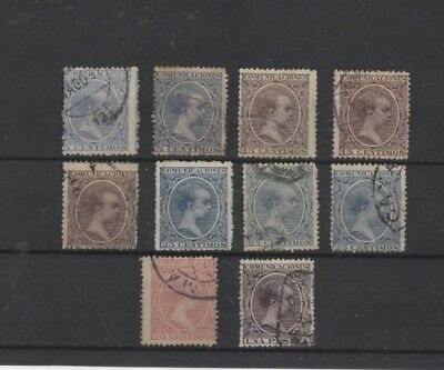 Spain , 1889, 10 Used Type 5 ( Please See Descr. )...
