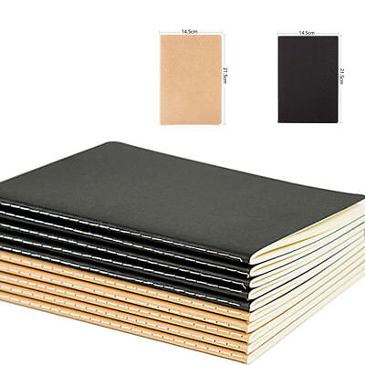 Soft A5 Kraft Cover Notebook blank white paper Sewing bound 30 Sheets Hot Sale
