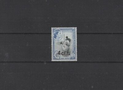 SWAZILAND , 1961, SG71 4c on 4 1/2d BLACK AND BLUE, MH