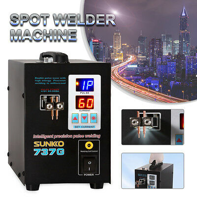 SUNKKO 737G Pulse Spot Welder Welding Soldering Machine LED Light for Battery