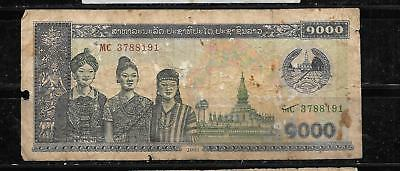 LAOS LAO #32Ab 2003 1000 KIP good BANKNOTE NOTE CURRENCY PAPER MONE