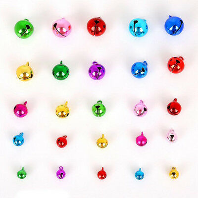 Mixed-Color Jingle Bell Charm Pendant DIY Jewelry Making Xmas 6/8/10/12/14mm