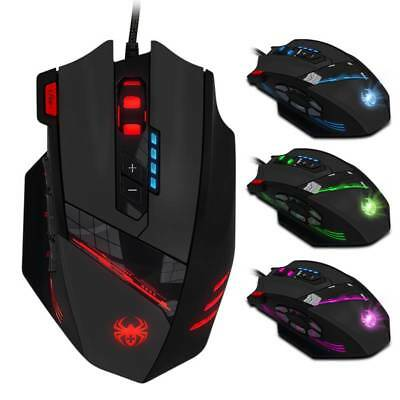 LED Backlit Wired USB Optical Gaming Mouse Mice 9200DPI Ergonomic 8 Buttons NEW