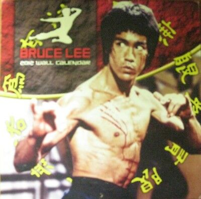 Rare 2012 Bruce Lee Wall Calendar Jeet Kune Do Wing Chun Kung Fu Martial Arts