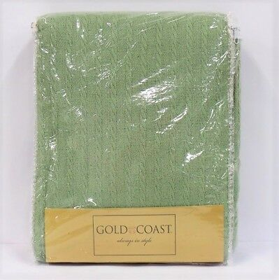 Gold Coast Cotton Hand Loomed Blanket in Sage - Queen