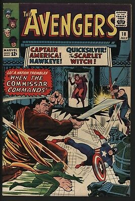 Avengers #18 Jul 1965 Vs The Commissar! Nice Glossy Cents Copy Good Page Quality