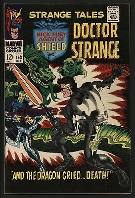 Strange Tales #163 Very Glossy Cents White Pages Jim Steranko Art Vs Yellow Claw